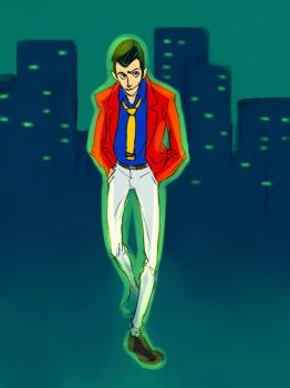 Lupin III - Cityscape by bluestraggler