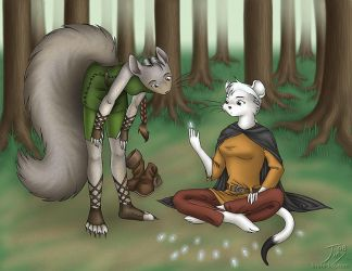 In the Forest by CitizenOfZozo-art