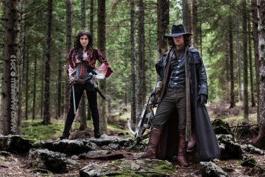 Van Helsing and Anna Valerious cosplay - Woods by ilPas