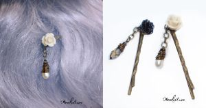 Angel and Demon bobby pins set by AmeliaLune