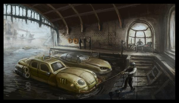 water cab garage by janis21111