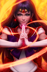 Burning Warrior (Sailor Mars) by DigiFlohw