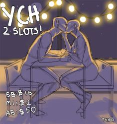 [OPEN] YCH FIRST KISS 2 SLOTS! by T4IRO
