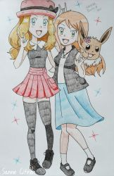 Serena and Emily with Vivi (Closest Friends) by WillDynamo55