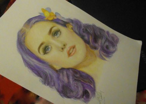 Katy Perry - Colour Pencil by OMRowling