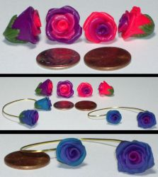 clay jewelry - Earhangs by Catgoyle