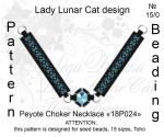 Peyote choker necklace 18P024 by LadyLunarCat