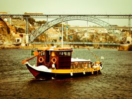 Rabelo Boat at Douro River by Sonia-Rebelo
