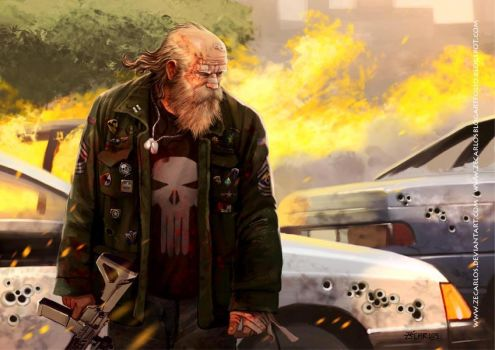the old Punisher -1 by zecarlos