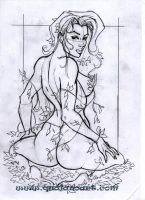 poison ivy preliminary sketch by qualano