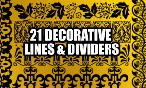 Decorative Lines by fiftyfivepixels