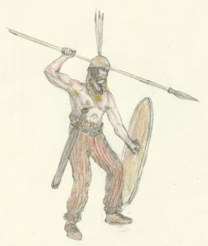 Gaul Warrior of the Boii tribe by B4LD3R