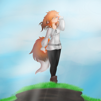Gift art for Kitsune-HalfBreed91 by SilverCreation