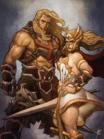 Adam and Adora by OldManLefty