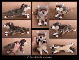 Plushie Commission: Italian Wolf by Avanii