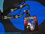 My badge and dA lanyard by casualGEE