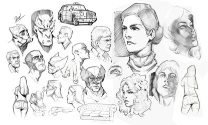 Ipad Pro Head Drawings and other stuff by reiq