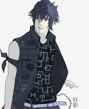 Noct in Prom Clothes by Bev-Nap