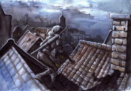 Roofs of Oxenfurt by AriaDog