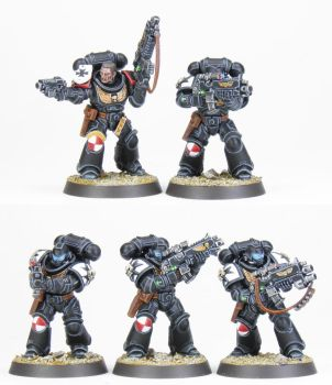 Black Templars Intercessor Squad - Commission by PrincipeFenice