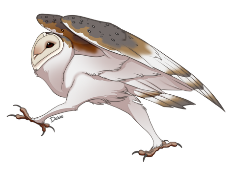 Running Barn Owl by Rawri-Tea