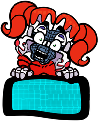 -Circus Baby BLANK CLOSED stamp- by EmberCL