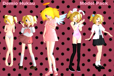 Demio Hukau MMD model pack 1 by ZatchHikaru