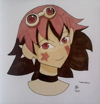 Copic Colors April: Molly OSR by RedVioletPanda