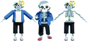 MMD Flowey Possession Sans by KittyNekkyo