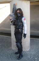 Winter Soldier Cosplay outside photoshoot by arania