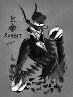 King of Spades - Rabbit by ChesterPalm