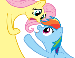 Flutter and Dash by PsychoanalyticBrony