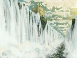 The Waterfall Castle by FernandaNia
