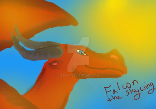 Falcon Really Old drawing by Raventhenightwing