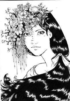 Girl in flower by KiaReginaDellaFollia