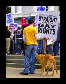 straight guy for gay rights by beanpatrol