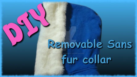 DIY Removable Sans fur collar by CosplayOtakuOnBudget