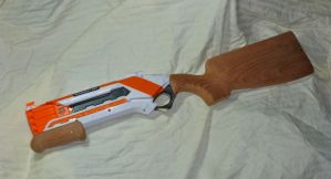 NERF Roughcut Wood Stock and Foregrip by MarcWF