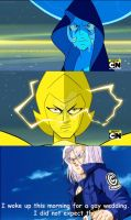 Trunks' reaction to 'Reunited' by Petrus-C-Visagie