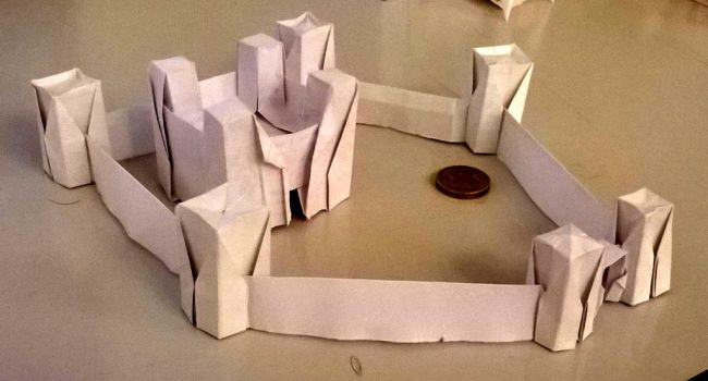 Small origami castle 1 by WilliamClinch