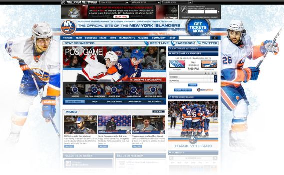 New York Islanders Site Design by Pinwizkid