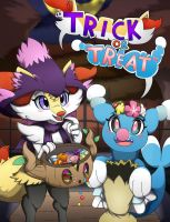 FA-Braixen n Brionne:''Trick or Treat!''