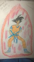 My silly looking Goku drawing by Lucasfan375