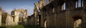 Panoramic Netley Abbey by Lunapic