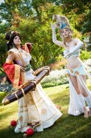 League of Legends - Sona and Janna by Verelaitale