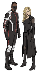 Mr. Terrific and Black Siren by AMTModollas