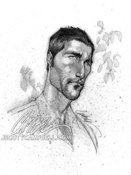 LOST sketches 'Jack' by J-Scott-Campbell