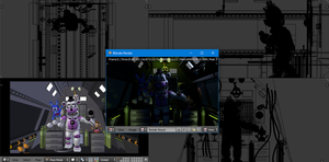 BTS - Funtime Freddy in Control Module - FNaF SL by ChuizaProductions