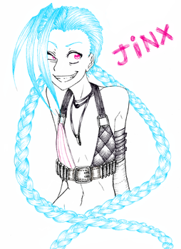 Jinx the Loose Cannon by TopHat-Zombie
