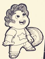 BABY STEVEN AND HIS SHIELD!!! by Stick2mate